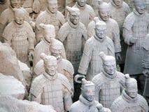 Ejército de guerreros de la terracota Imágenes de archivo libres de regalías