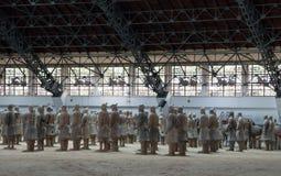 Ejército de la terracota de la dinastía de Qin, Xian (Sian), China Foto de archivo libre de regalías