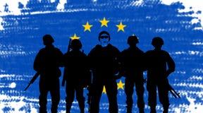 Ejército de la Unión europeo stock de ilustración