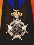 Ejército de Medaille Bélgica fotografía de archivo libre de regalías