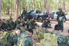 Ejército de Salvamento Tailandia Foto de archivo libre de regalías