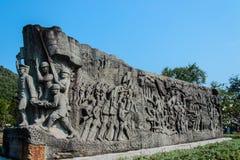 Ejército de Tailandia y monumento del explorador Imagen de archivo libre de regalías
