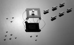 Ejército de virutas y de semiconductores imagen de archivo