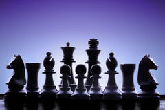 Ejército del ajedrez Foto de archivo libre de regalías