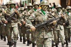 Ejército ecuatoriano Fotografía de archivo libre de regalías