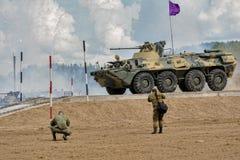 Ejército Games-2017 Competencia Tyumen de la ruta segura Rusia Fotografía de archivo libre de regalías