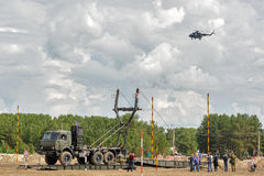 Ejército Games-2017 Competencia Tyumen de la ruta segura Rusia Imagen de archivo