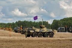 Ejército Games-2017 Competencia Tyumen de la ruta segura Rusia Fotos de archivo libres de regalías