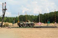 Ejército Games-2017 Competencia Tyumen de la ruta segura Rusia Imágenes de archivo libres de regalías