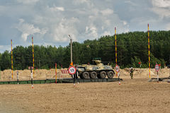 Ejército Games-2017 Competencia Tyumen de la ruta segura Rusia Imagenes de archivo