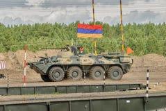 Ejército Games-2017 Competencia Tyumen de la ruta segura Rusia Foto de archivo libre de regalías
