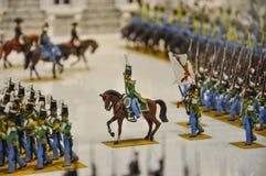 Ejército histórico de soldados de lata Imagen de archivo libre de regalías