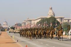 Ejército indio en desfile fotografía de archivo libre de regalías