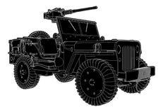 Ejército Jeep Vector stock de ilustración
