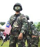Ejército malasio real en el día nacional Foto de archivo