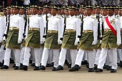 Ejército malasio real joven Imágenes de archivo libres de regalías