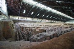 Ejército o guerreros de la terracota fuera de Xi'an China imagen de archivo libre de regalías