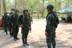 Ejército tailandés real Imágenes de archivo libres de regalías