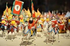 Ejército y caballos del período de tres reinos Fotos de archivo libres de regalías