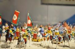 Ejército y caballos del período de tres reinos Imagen de archivo libre de regalías