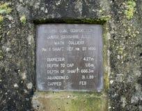 Eje capsulado de la mina de carbón de la mina de carbón Fotografía de archivo