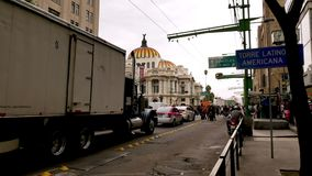 Eje Central Lazaro Cardenas in center of Mexico City stock video footage