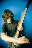 Eje de balancín y guitarra Imagen de archivo