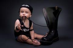 Eje de balancín-bebé Imagen de archivo libre de regalías