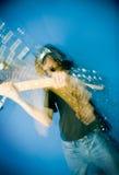 Eje de balancín y guitarra Imagen de archivo libre de regalías