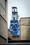 Eje de mina El carbón se ha excavado en Silesia por años Imagen de archivo libre de regalías