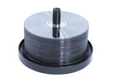 Eje de rotación de CD/DVD - azul entonado Fotos de archivo libres de regalías