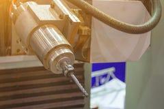Eje del CNC que muele para la madera Fotografía de archivo