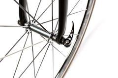 Eje del frente de la bici del camino imagenes de archivo