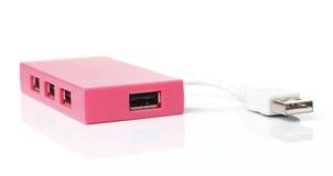 EJE del USB en rosa Fotografía de archivo libre de regalías