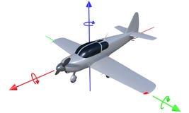 eje del vuelo de los aviones 3d Foto de archivo libre de regalías