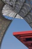 Eje y China Pavillion de la expo Imagen de archivo libre de regalías