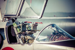 Ejector seat in airplane Stock Photography