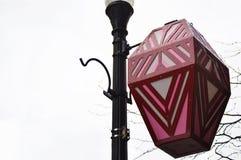 Ejecución china de la lámpara de calle en luz de calle Imagenes de archivo