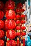 Ejecución china de la linterna del Año Nuevo para vender en el camino de Yaowarat Imagen de archivo libre de regalías