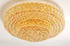 Ejecución cristalina de la lámpara en techo Foto de archivo libre de regalías