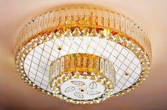 Ejecución cristalina de la lámpara en techo Fotografía de archivo libre de regalías