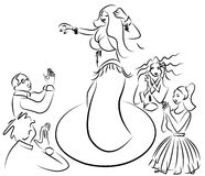 Ejecución de la bailarina de la danza del vientre Fotos de archivo