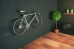 Ejecución de la bici en la pared Imagen de archivo