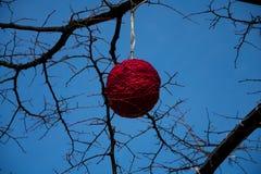 Ejecución de la decoración de la Navidad en un árbol fotos de archivo libres de regalías