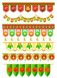 Ejecución de la entrada para la decoración tradicional india stock de ilustración