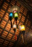 Ejecución de la linterna en el top del tejado, foco selectivo Foto de archivo libre de regalías