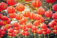 Ejecución de la linterna para la celebración china del Año Nuevo Foto de archivo libre de regalías
