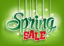 Ejecución de la palabra de la venta de la primavera con las secuencias Fotos de archivo