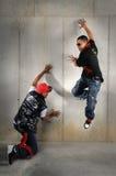 Ejecución de los hombres de Hip Hop foto de archivo