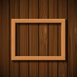 Ejecución de madera del marco en la pared Imagen de archivo libre de regalías